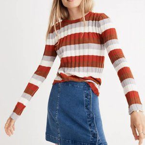 Madewell Clarkwell Pullover Striped Sweater, XL